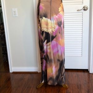 Long silk floral Roberto Cavalli skirt
